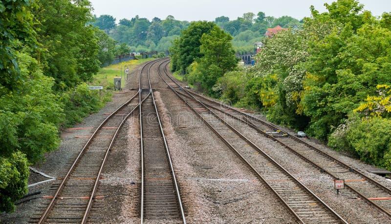 Сливать железнодорожные пути стоковое изображение rf