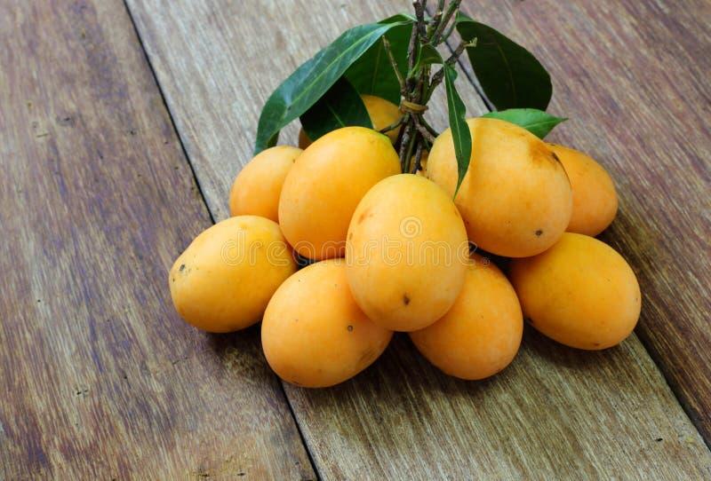 Слива Мэриан Mayongchid Maprang и манго сливы стоковые фото