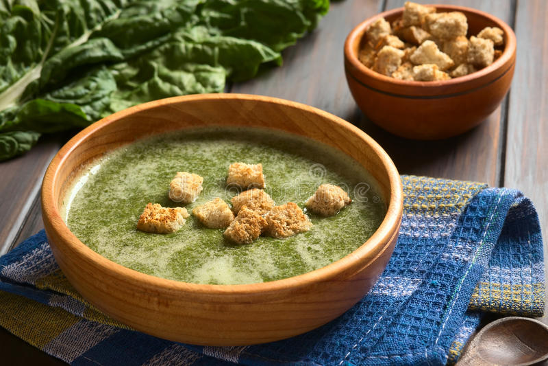 Сливк супа мангольда стоковые фото