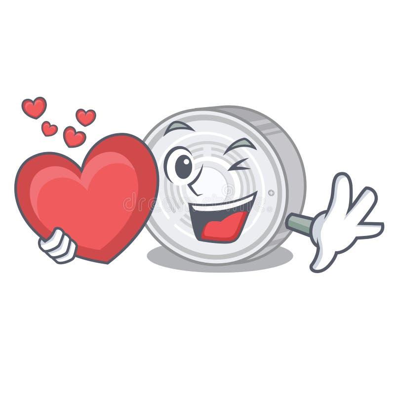 С индикатором дыма сердца в форме мультфильма бесплатная иллюстрация