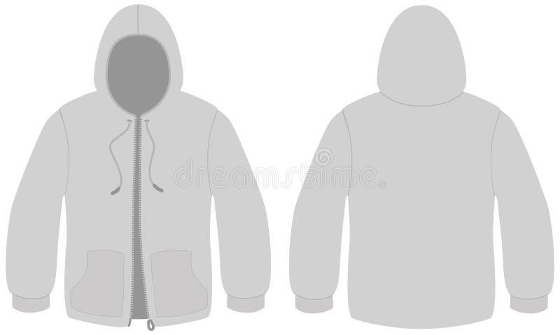 с капюшоном застежка -молния вектора шаблона свитера бесплатная иллюстрация