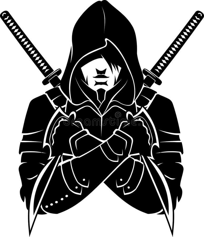 С капюшоном человек, вооруженный и опасный бесплатная иллюстрация