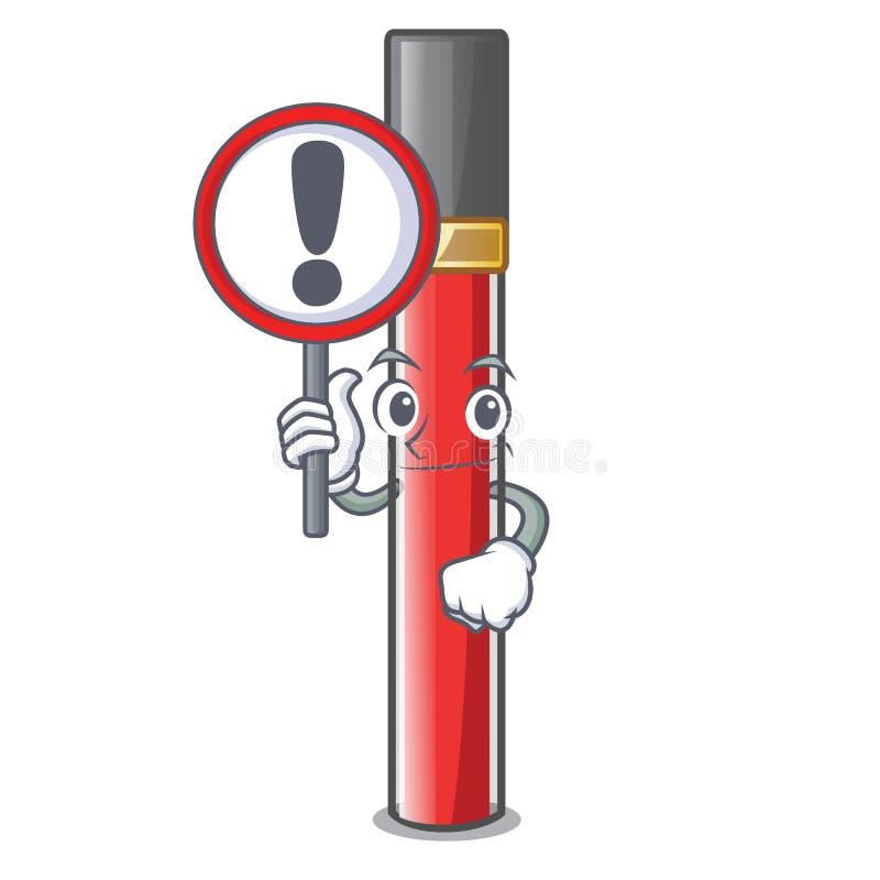 С лоском губы знака в форме мультфильма иллюстрация вектора