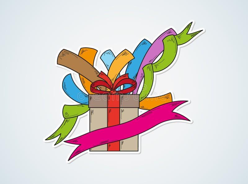 Download С днем рождения и подарок иллюстрация штока. иллюстрации насчитывающей конструкция - 41659851