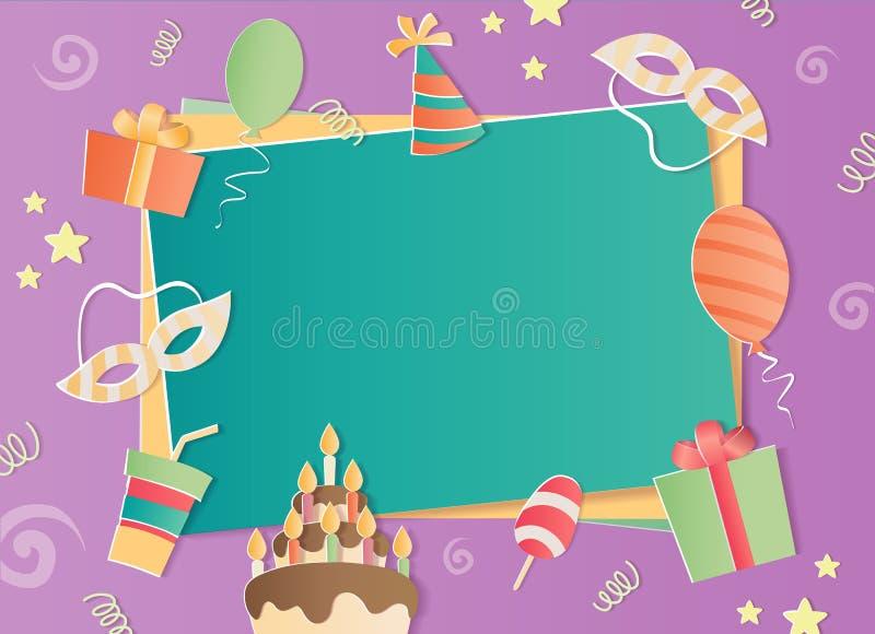 С днем рождения рамка фото бесплатная иллюстрация