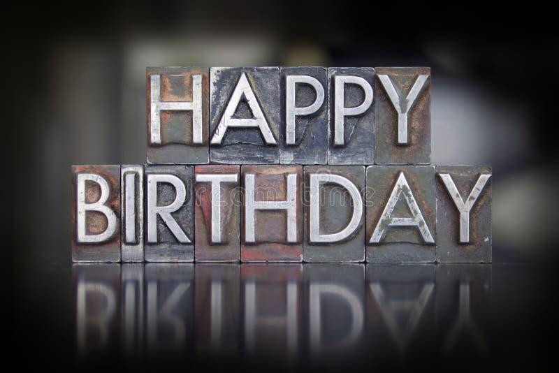 С днем рождения Letterpress стоковая фотография