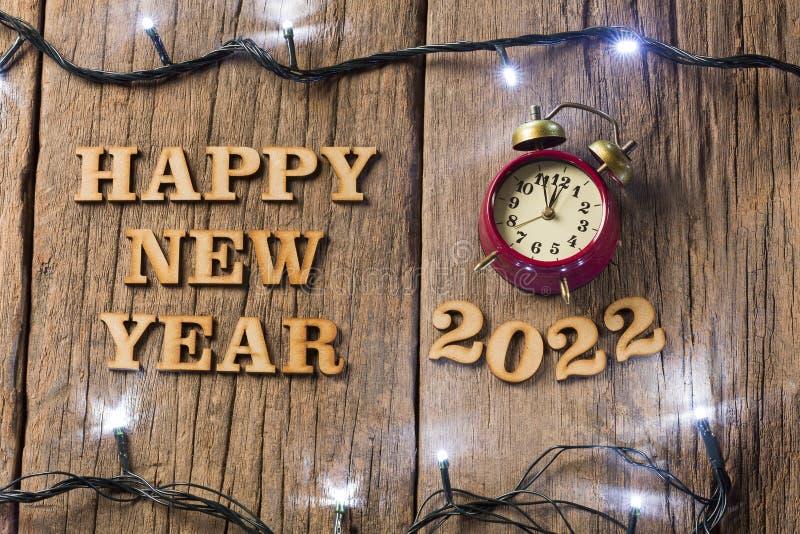 С Новым Годом! - деревянная предпосылка стоковая фотография rf