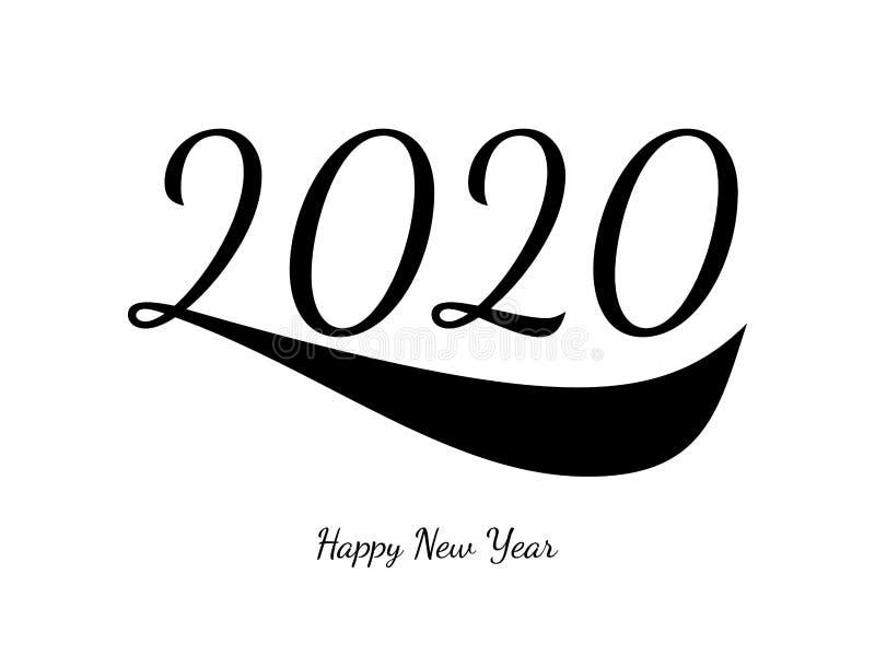 2020 С Новым Годом! номеров иллюстрация штока