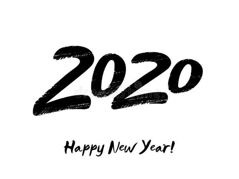 2020 С Новым Годом! номеров бесплатная иллюстрация