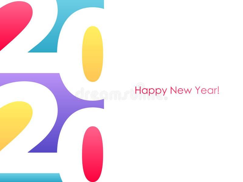 2020 С Новым Годом! нумерует красочную предпосылку иллюстрация штока