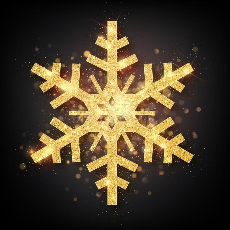 С Новым Годом! предпосылка 2020 Карта вектора С Новым Годом! со снежинкой золота бесплатная иллюстрация