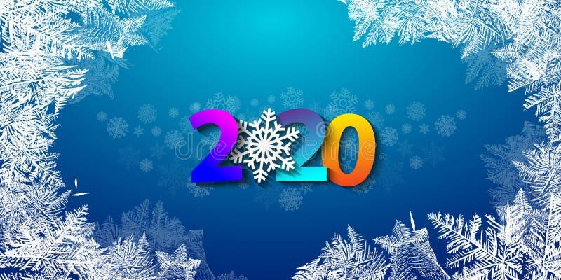 2020 С Новым Годом! предпосылок Новый Год иллюстрации 2020 вектора счастливый и веселое рождество для ваших летчиков и брошюр стоковое фото