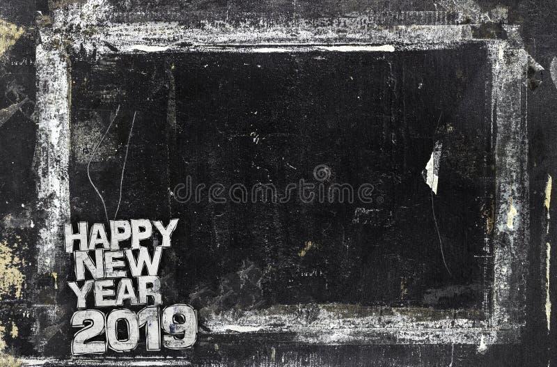 2019 С Новым Годом! предпосылок Grunge стоковые изображения rf