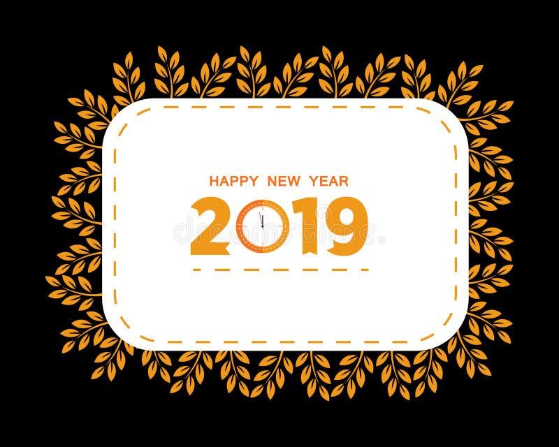 2019 С Новым Годом! творческих дизайнов для вашей поздравительной открытки, летчики, приглашение, плакаты, брошюра, знамена, кале иллюстрация вектора