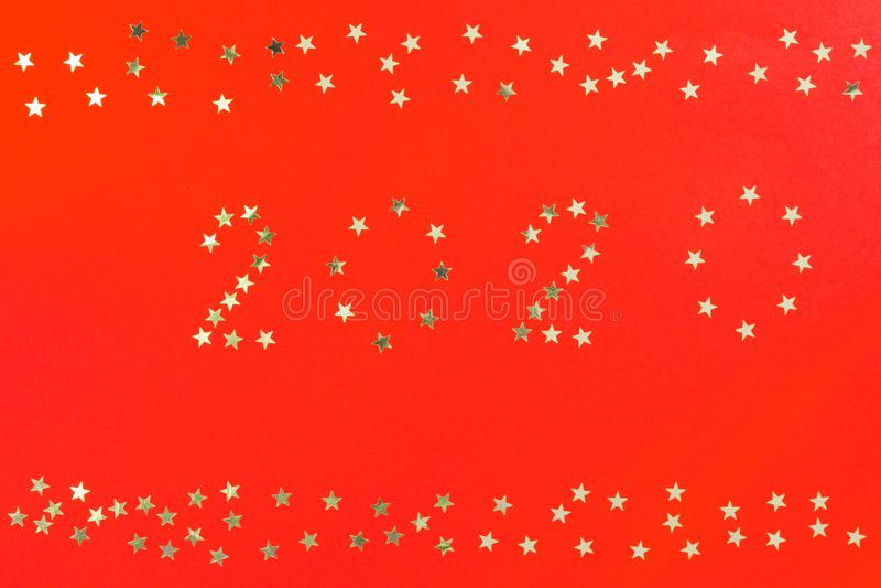 С Новым Годом! шаблон дизайна поздравительной открытки 2020 зимних отдыхов Плакат партии, знамя или звезды приглашения серебряные стоковые фотографии rf