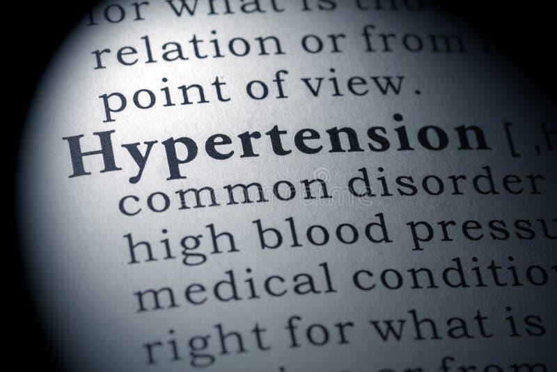 Словарное определение гипертензии стоковые фотографии rf