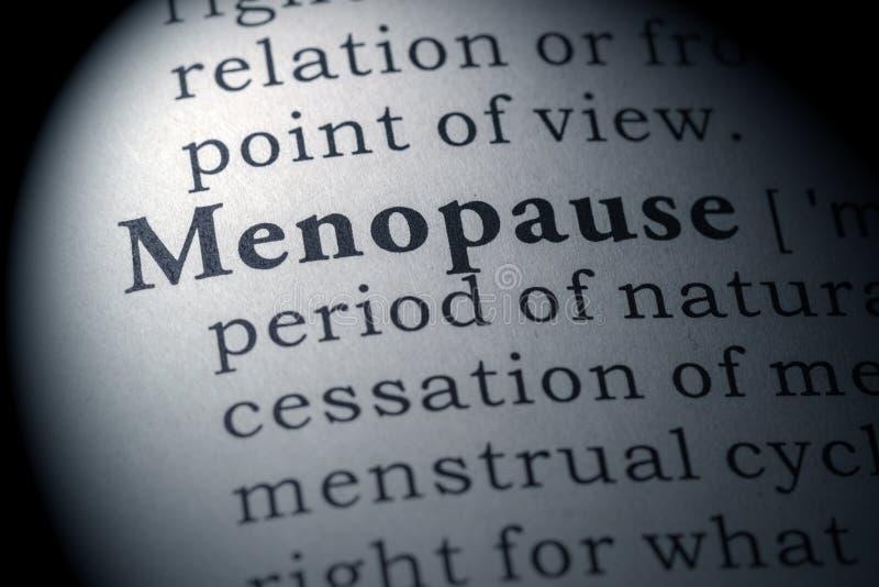 Словарное определение менопаузы стоковые изображения rf