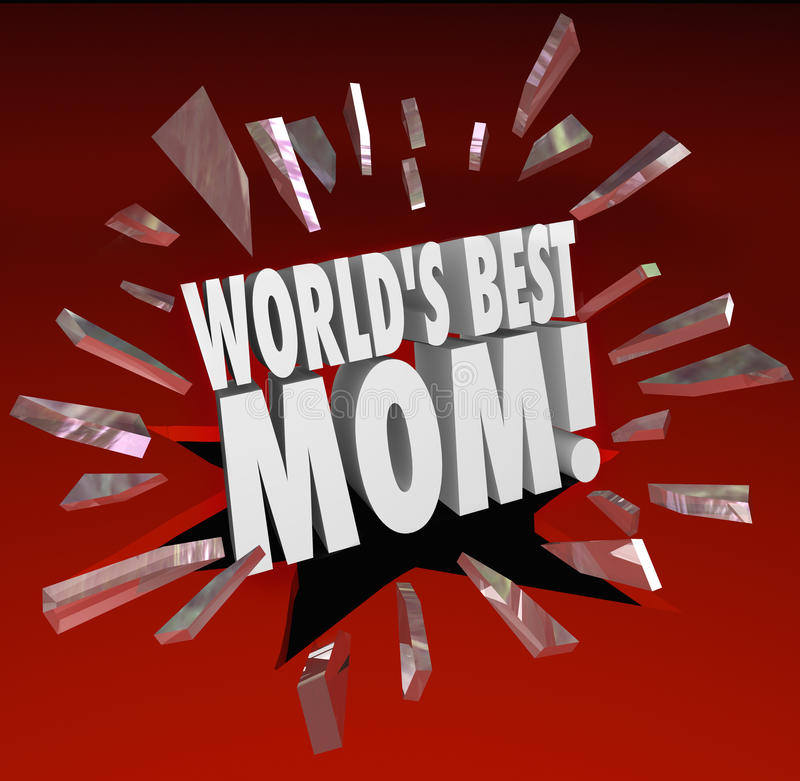 Слова мамы миров самые лучшие выходить стеклянная верхняя мать иллюстрация вектора