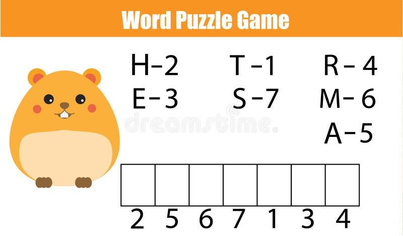 Слова озадачивают игру детей воспитательную с кодом номеров бесплатная иллюстрация