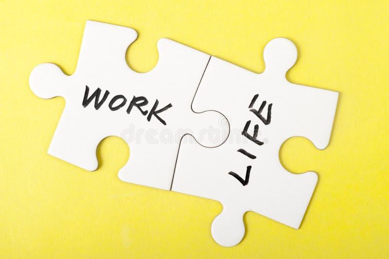 Слова работы и жизни стоковые изображения