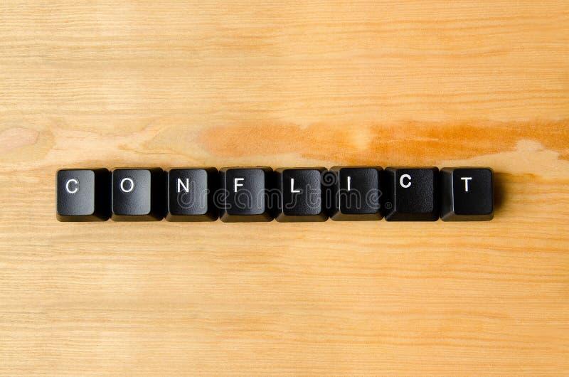 Слово конфликта стоковое изображение rf
