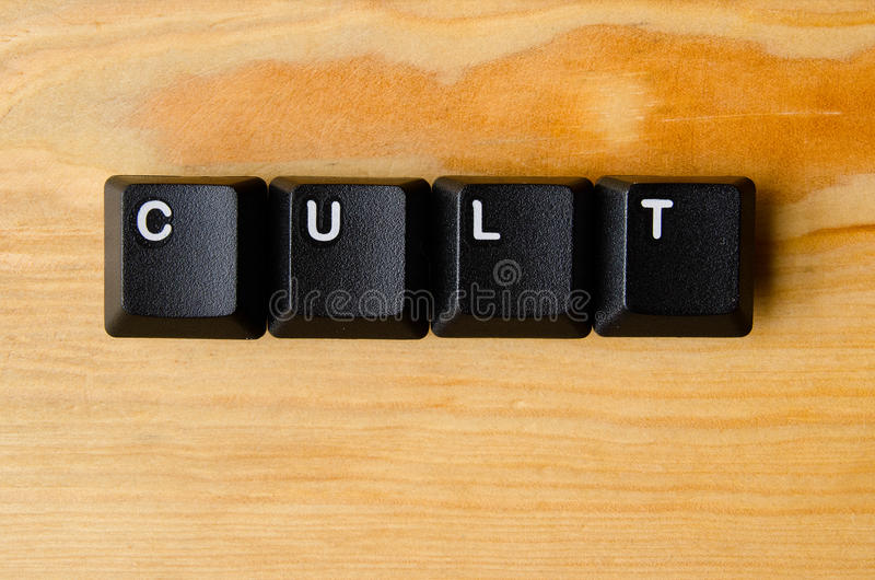 Слово культа стоковые фотографии rf