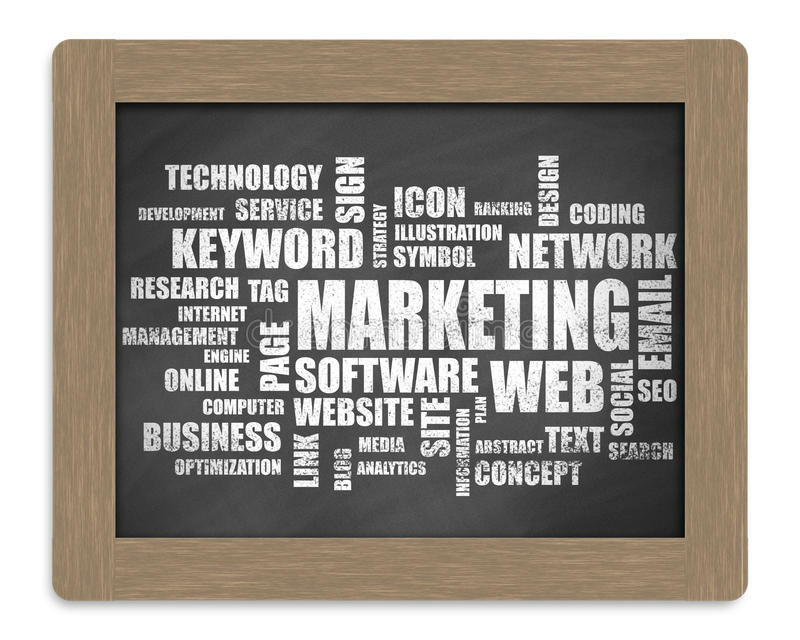 Слово маркетинга или облако бирки иллюстрация вектора