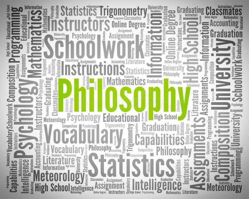 Слово общего соображения значит премудрость Общие соображения и этики иллюстрация вектора