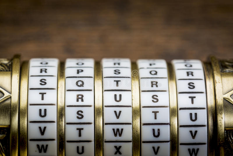 Слово доверия как пароль стоковое изображение rf