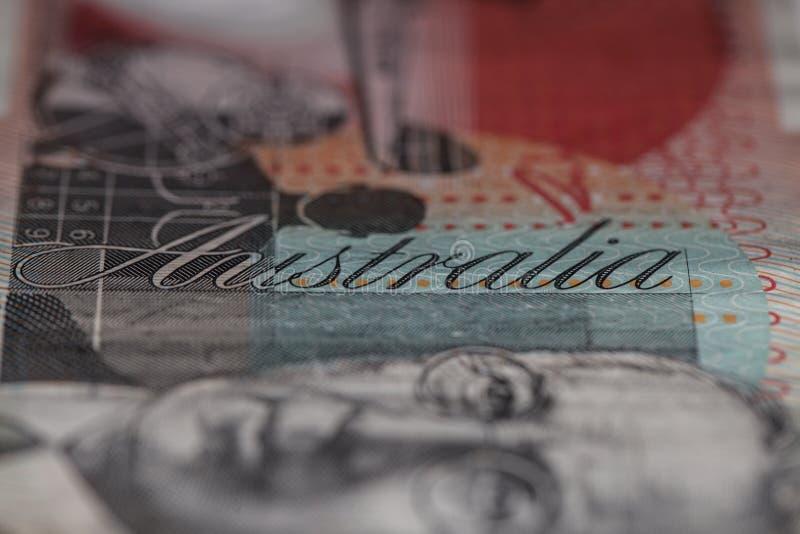 слово примечания 20 фокуса доллара детали Австралии австралийское стоковое фото rf