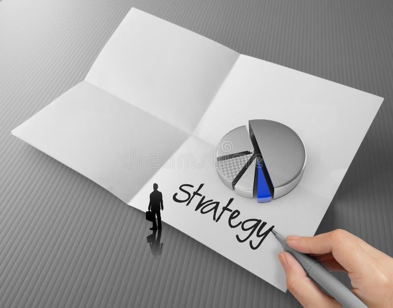 Слово стратегии бизнеса чертежа руки стоковая фотография rf