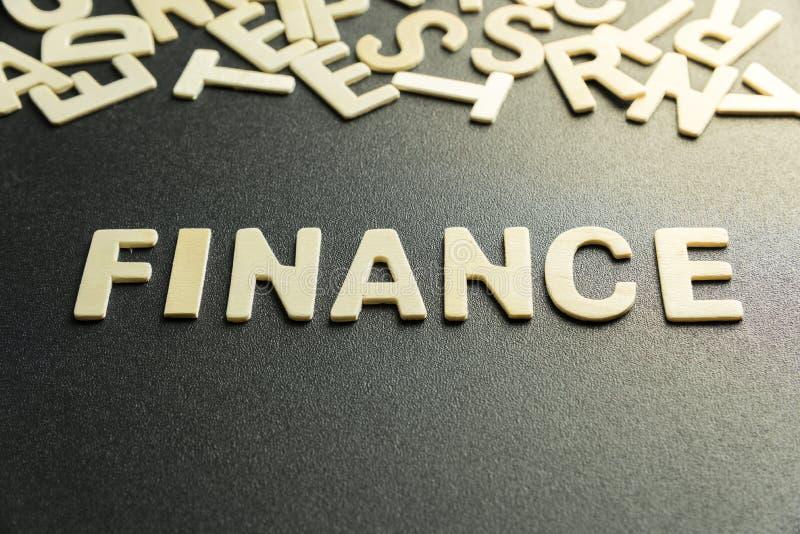 Слово финансов стоковые изображения