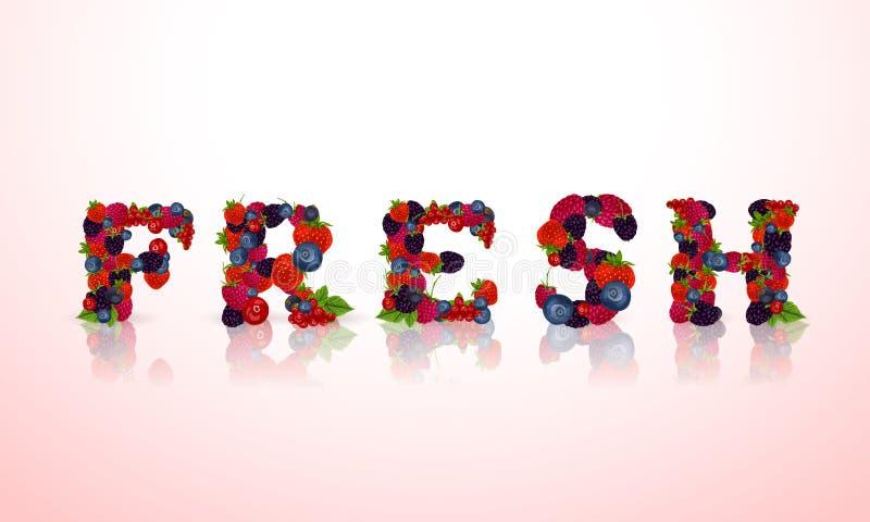 Download Слово ягод свежее иллюстрация вектора. иллюстрации насчитывающей листья - 40586165