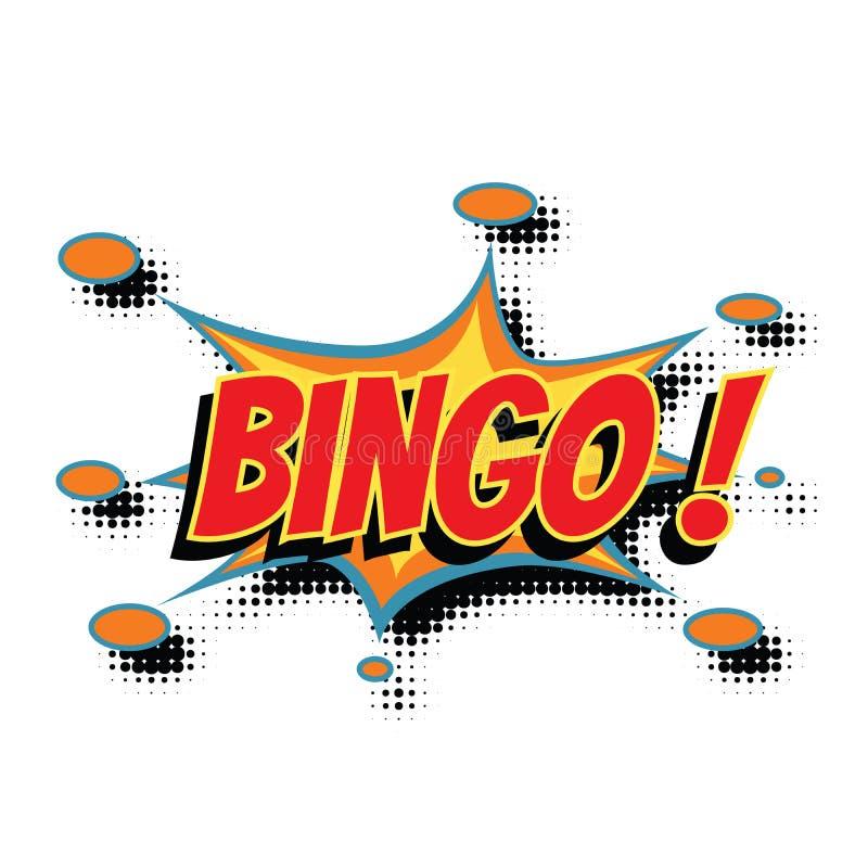 Слово Bingo шуточное иллюстрация вектора