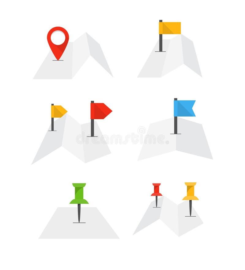 Сложенная абстрактная карта города с собранием бесплатная иллюстрация