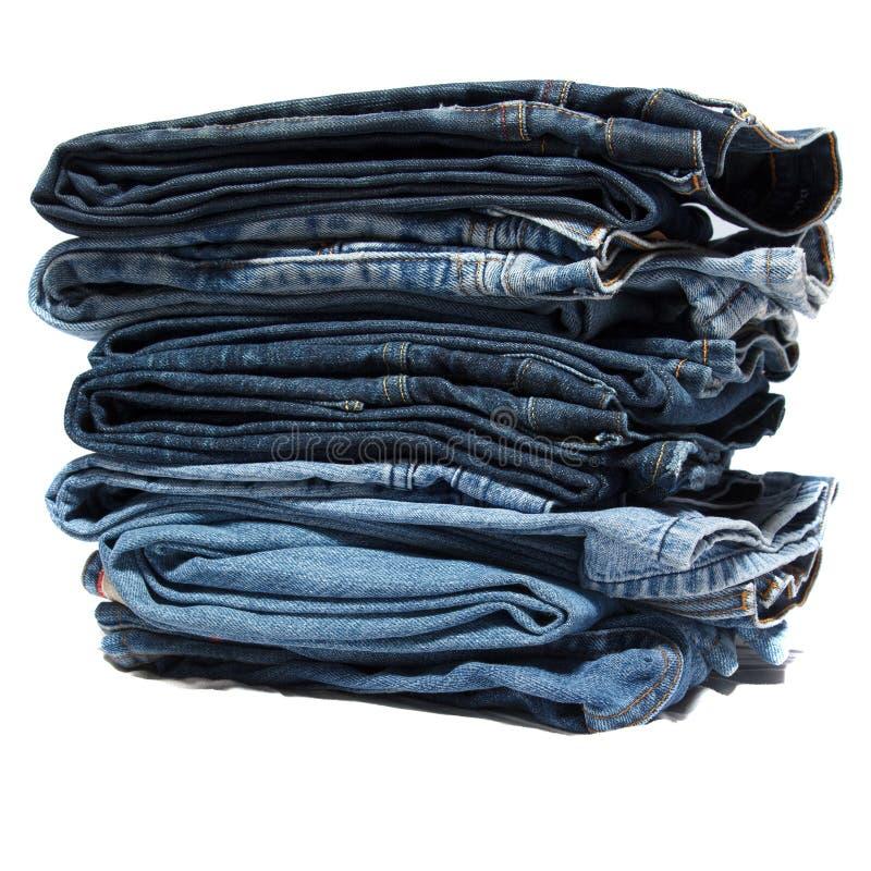 Сложенные одежды демикотона стоковое фото rf