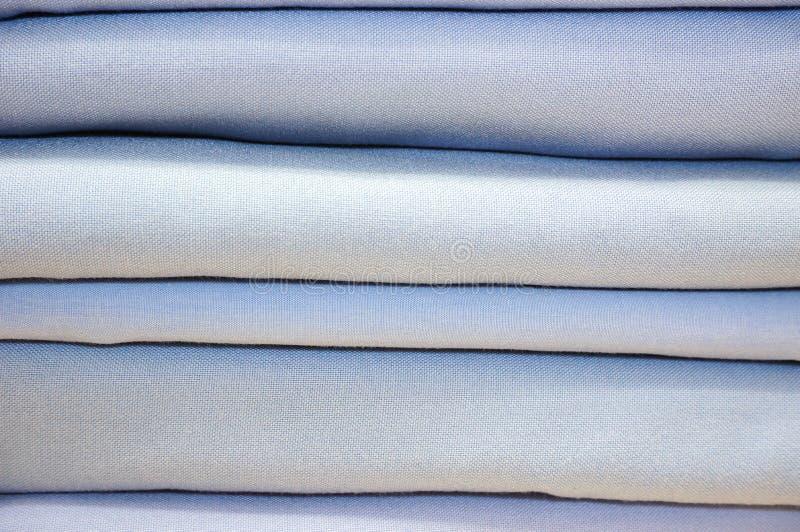 Сложенные постельное белье или крышка одеяла стоковые фотографии rf