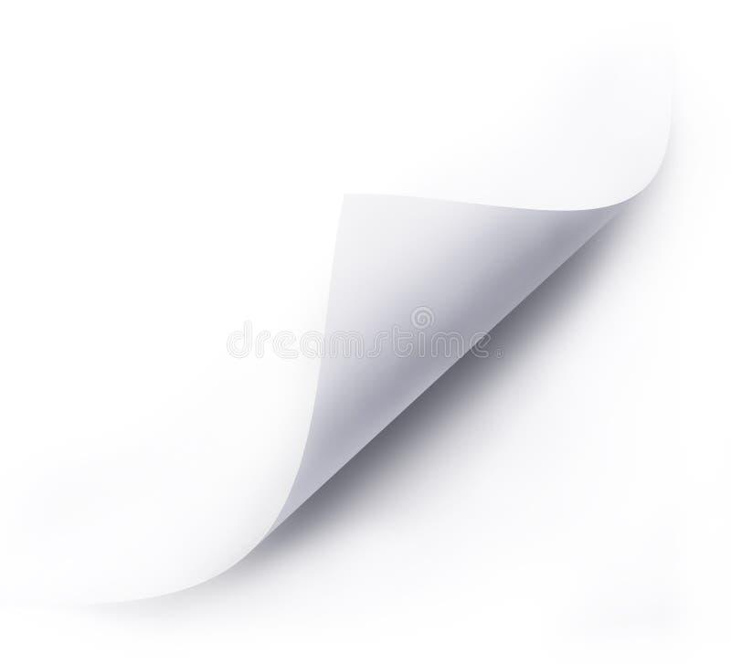 Сложенный лист белой бумаги иллюстрация вектора