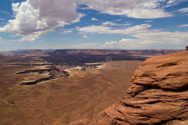 Слои песчаника Canyonlands стоковое изображение rf