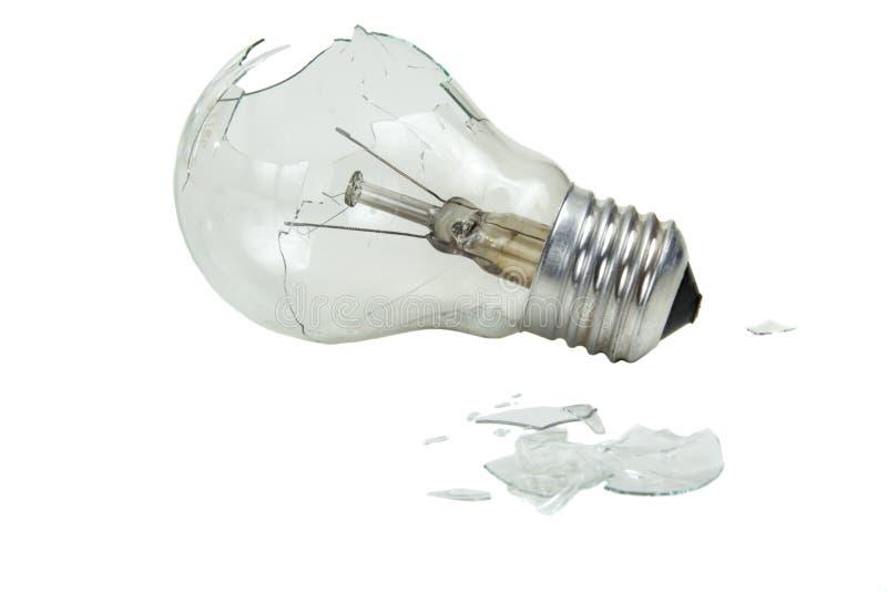 Сломленная лампочка стоковое фото