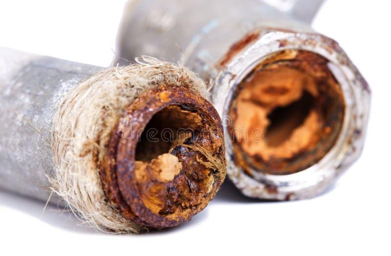 Busted ржавые трубы стоковое изображение rf