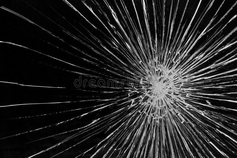 Сломленная стеклянная форточка стоковое изображение rf