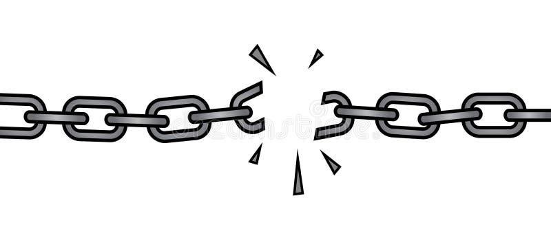 Сломленная цепь иллюстрация штока