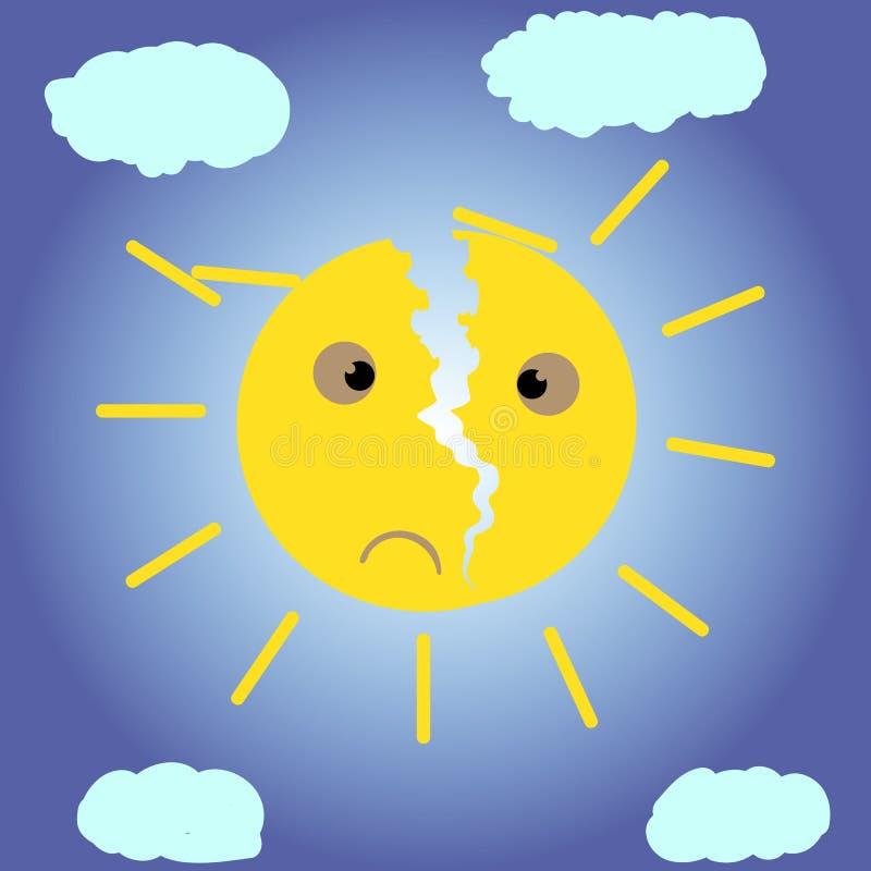 Сломленное солнце бесплатная иллюстрация