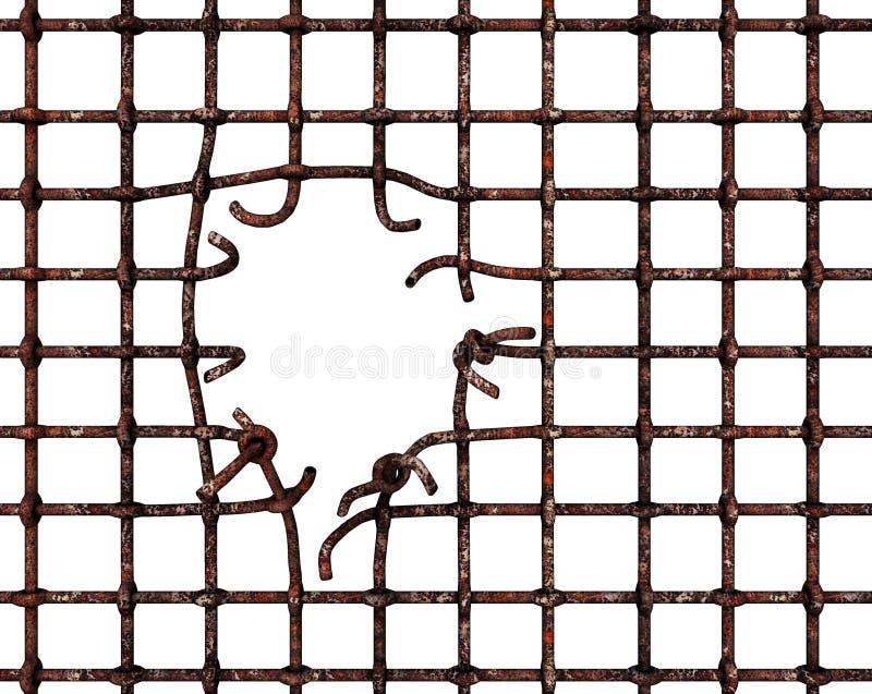Сломленные бары иллюстрация вектора