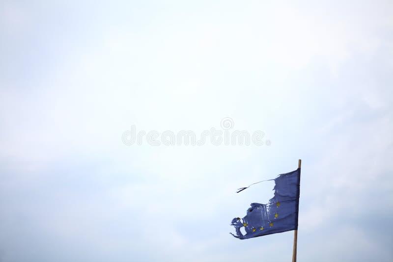 Сломленный ЕС. стоковая фотография