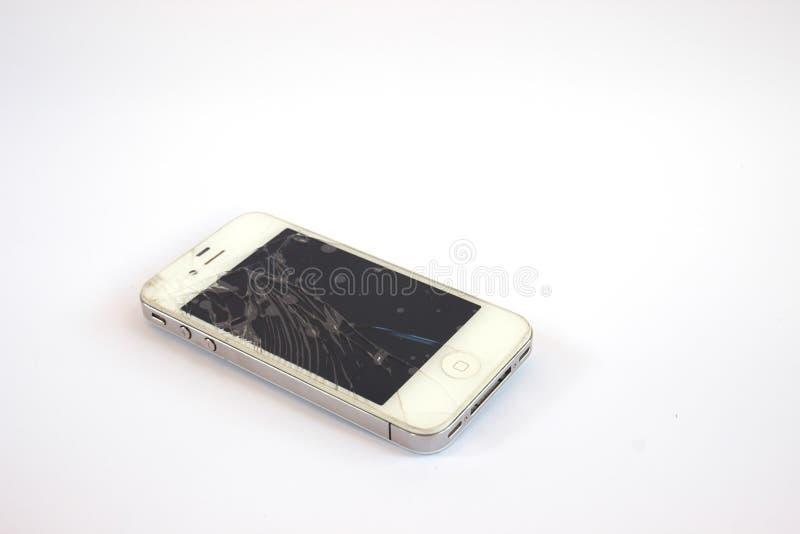 сломленный мобильный телефон стоковое фото rf