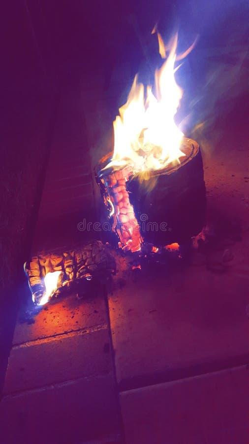 Сломленный огонь стоковая фотография rf