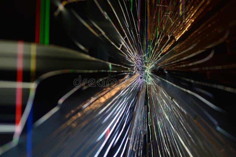 Сломленный экран компьютера стоковое фото rf