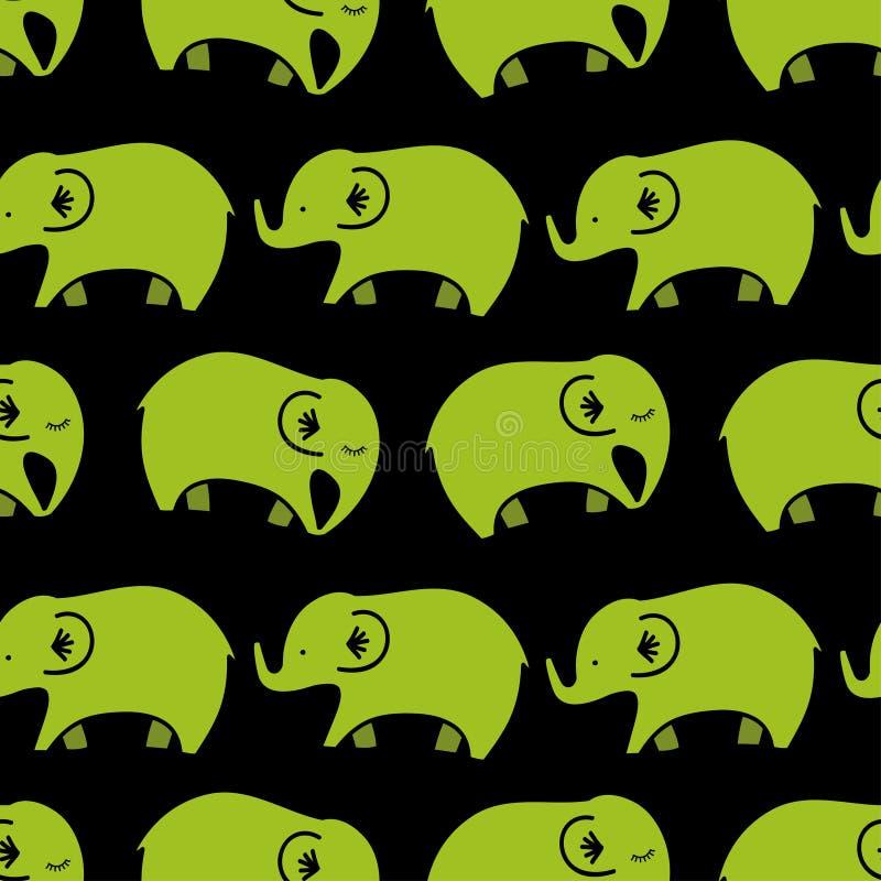 слоны делают по образцу безшовное бесплатная иллюстрация